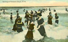 Hampton Beach NH Bathers Bathing at Hampton Beach 1912