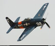 "WWII  F8F  Bearcat  52""wing    Scale RC Model AIrplane Printed Plans"