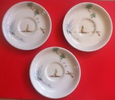 3 X Vintage ROYAL DOULTON Saucers The Coppice Flying Birds A22