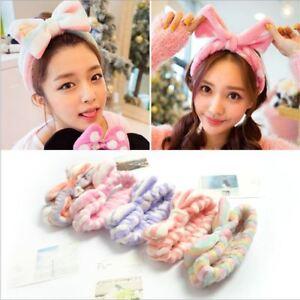 PKorean Headband Fast Dry Bow Tie Make up Face Wash Hair Band Bath Head Wrap Cut