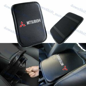 Embroidery For MITSUBISHI Carbon Center Console Armrest Cushion Mat Pad Cover X1