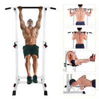 Adjustable Dip Station Chin Up Bar Power Tower Pull Up Home Gym Fitness Core New