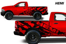 Vinyl Decal HEMI Wrap Kit for 2009-2018 Dodge Ram 1500/2500/3500 6.5 BED BLACK