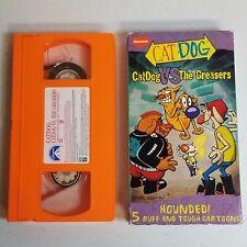 CatDog VS The Greasers (VHS, 1999) 5 Cartoons Nickelodeon Cat Dog Tape