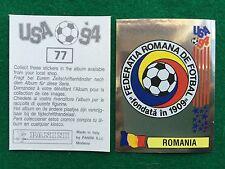 USA 94 n 77 SCUDETTO BADGE ROMANIA , Figurina Sticker Panini NEW