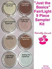 9 Pc Lot Minerals Set Bare Makeup Foundation Kit Light Sample Size New/Sealed