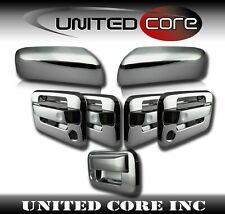 09-14 Ford F150 Chrome Mirror Chrome Door Handle Tailgate Cover 2 Keyhole