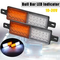 2x 30 LED Bullbar Front Bumper Indicator Park Light Lamp 12V 24V Truck Trailer