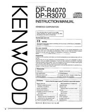Kenwood DPR-3070 CD Player Owners Instruction Manual