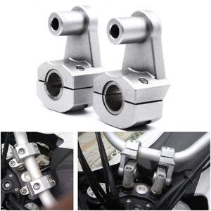 "7/8"" 22mm Motorcycle HandleBar Handle Fat Bar Mount Clamps Riser Aluminum Tight"
