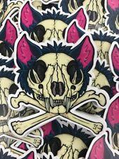 ONE Kitty Cat Skull & Crossbones Matte Sticker