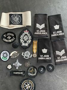 Collection Of Vintage St Johns Ambulance Medals And Badges Etc