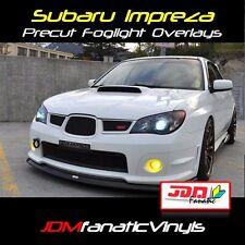 06 07 Impreza WRX STI Fog light Rally JDM Yellow Overlays Tint Vinyl Film Precut