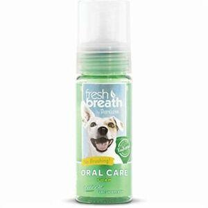TropiClean Oral Care Foam 133ml Dog Puppy No Brushing Natural Formula Health