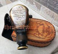 Nautical Binocular Monocular Antique Gold Brass Pirate Solid Spyglass UniqueGift