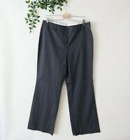 Ann Taylor Women's Straight Leg Trouser Dress Pants Size 14 Dark Gray