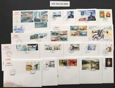 Iceland Year 2004 FDC YEAR SET CPL. (or Soak off for used stamps!!)