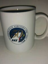 Vintage 1996 Scandinavian Airlines Collectible Coffee Mug 50th Anniversary