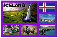 ICELAND - SOUVENIR NOVELTY FRIDGE MAGNET - SIGHTS / TOWNS - GIFT/ XMAS - NEW