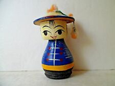 Wooden Japanese Kokeshi Nodder Doll Toy
