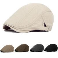 Men Cotton Blend Gatsby Cap Golf Driving Sun Flat Cabbie Beret Newsboy Ivy Hat