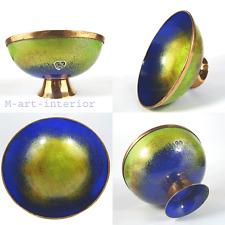Email Kupfer Schale Stegemaille 50er 60er Enamel Cloisonne Copper Bowl vintage