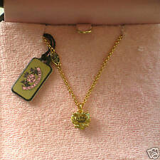NIB JUICY COUTURE CROWN ENG HEART WISH NECKLACE