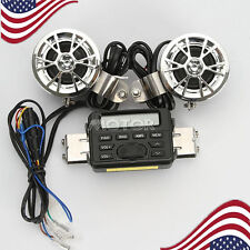 Motorcycle Bike ATV UTV Audio FM Radio MP3 iPod Waterproof Stereo Speaker System