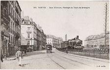 NANTES (44) - Quais Brancas, Passage du Train de Bretagne