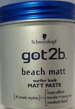 3 X Schwarzkopf got2b Beach Matt PASTE Surfer Look 100ml