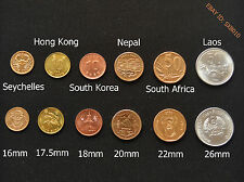 6 countries coin collecting. 6 kinds of face value. Uncirculated. 6 PCS