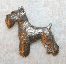 SCHNAUZER Dog Fine PEWTER PIN Jewelry Art USA Made