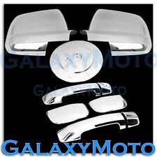07-12 TOYOTA TUNDRA DOUBLE CAB Mirror+Chrome 4 Door Handle no PSG KH+Gas Cover