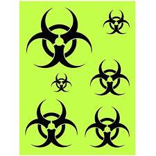 """Bio Hazard Stencil 12""""x9"""" biohazard caution zombie ar-15 prepper medical"""