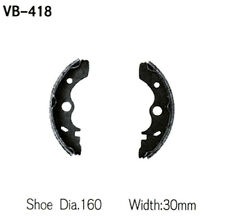 1986-1987 Kawasaki KLF300 Bayou 300 ATV Vesrah Brake Shoes [Front]