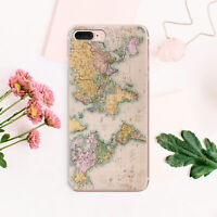 World Map iPhone 7 8 Plus Rubber Gel Cover iPhone X XS Max Case iPhone XR Snap