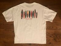 Pray For Surf Surfboard Longboard Hawaii Crazy Shirts White T-Shirt Men's 2XL