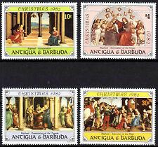 Antigua postfrisch MNH Weihnachten 1982 Raphael Maler Italien Gemälde Kunst / 9