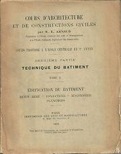 Cours d'architecture Béton Fondations Maçonnerie Plancher Batiment construction