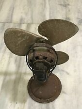 1910s MARELLI FAN - ANTIQUE CAST IRON BRASS - 3 ALUMINIUM BLADES - WALL MOUNT