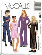 McCall's Sewing Pattern 3891 Girls Top Pants Skirt Size 8-12 All in 2 Lengths