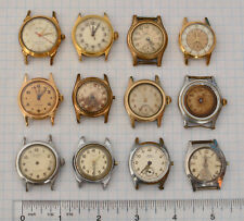 12-LOT! Vintage Swiss BOY SIZE or Military WW2 1950s Wrist Watches Part repair