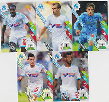 PANINI FOOTBALL 2014 2015 ADRENALYN CARDS LOT DE 5 CARDS GAME MARSEILLE