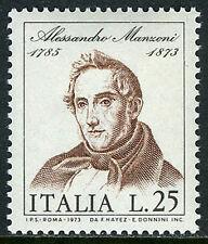Italy 1105, MNH. Alessandro Manzoni, novelist, poet, 1973