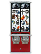 RETRO NOVELTY TATTOO COIN OPERATED VENDING MACHINE. COMMERCIAL GRADE