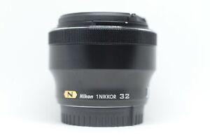 Pre-owned Nikon 1 NIKKOR 32mm f/1.2 CRC SWM N Lens (Black) Great Condition