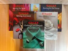 Singer SEWING REFERENCE LIBRARY Lot of 5 Clothing Care Home Essentials Style