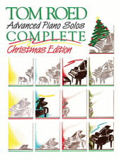 """TOM ROED """"Advanced Piano Solos Complete-Christmas Edition"""" MUSIC BOOK-NEW-SALE!!"""