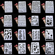 Best Letter Alphabet Number Layering Stencils Painting Scrapbooking Cards Craft