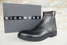 RICHMOND Talla 46 Botas Budapest Zapatos Negro Nuevo Antiguo
